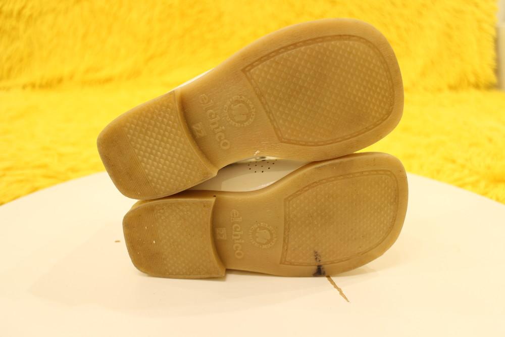 Кожаные белые ботиночки фото №3