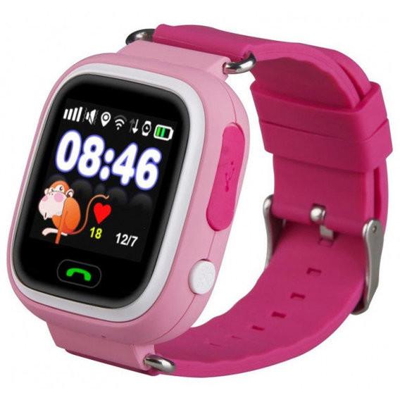 Детские смарт-часы с gps трекером - q90 фото №1