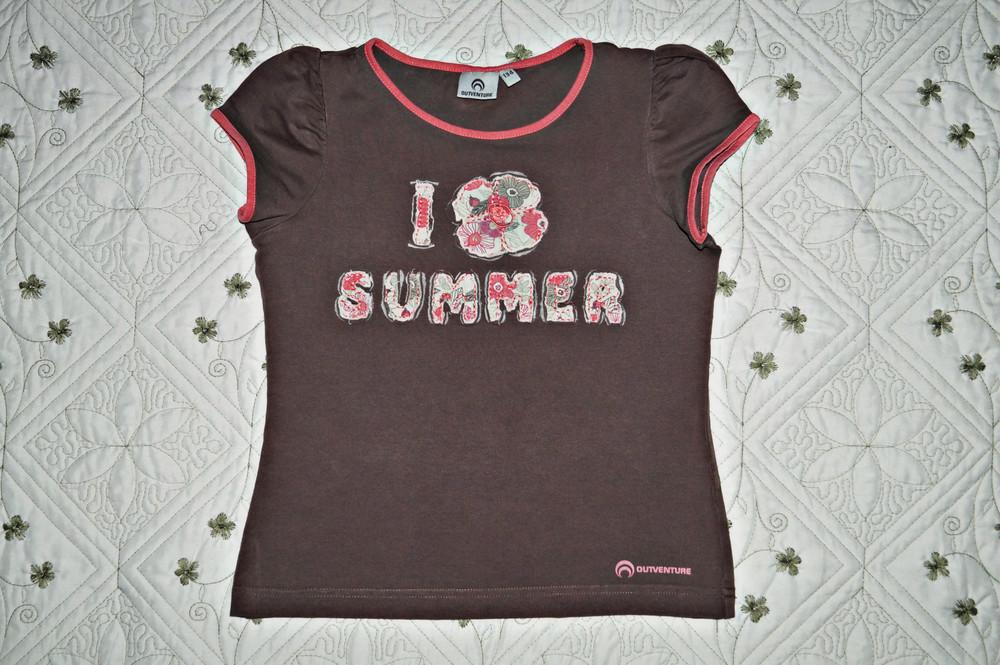 Красивая футболка для девочки тм outventure фото №1