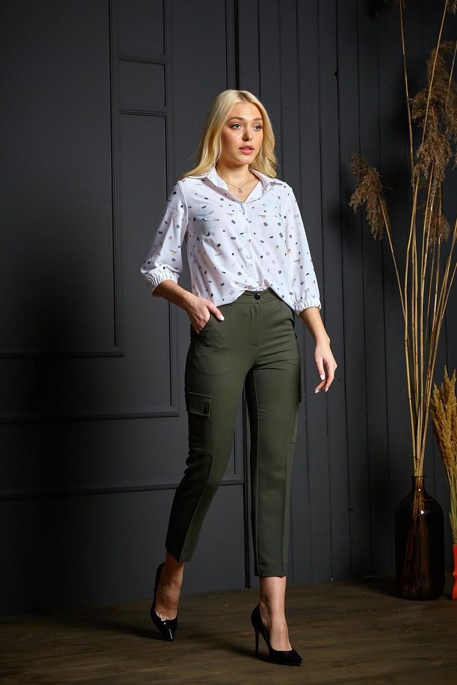 Стильные женские брюки р.42 фото №1