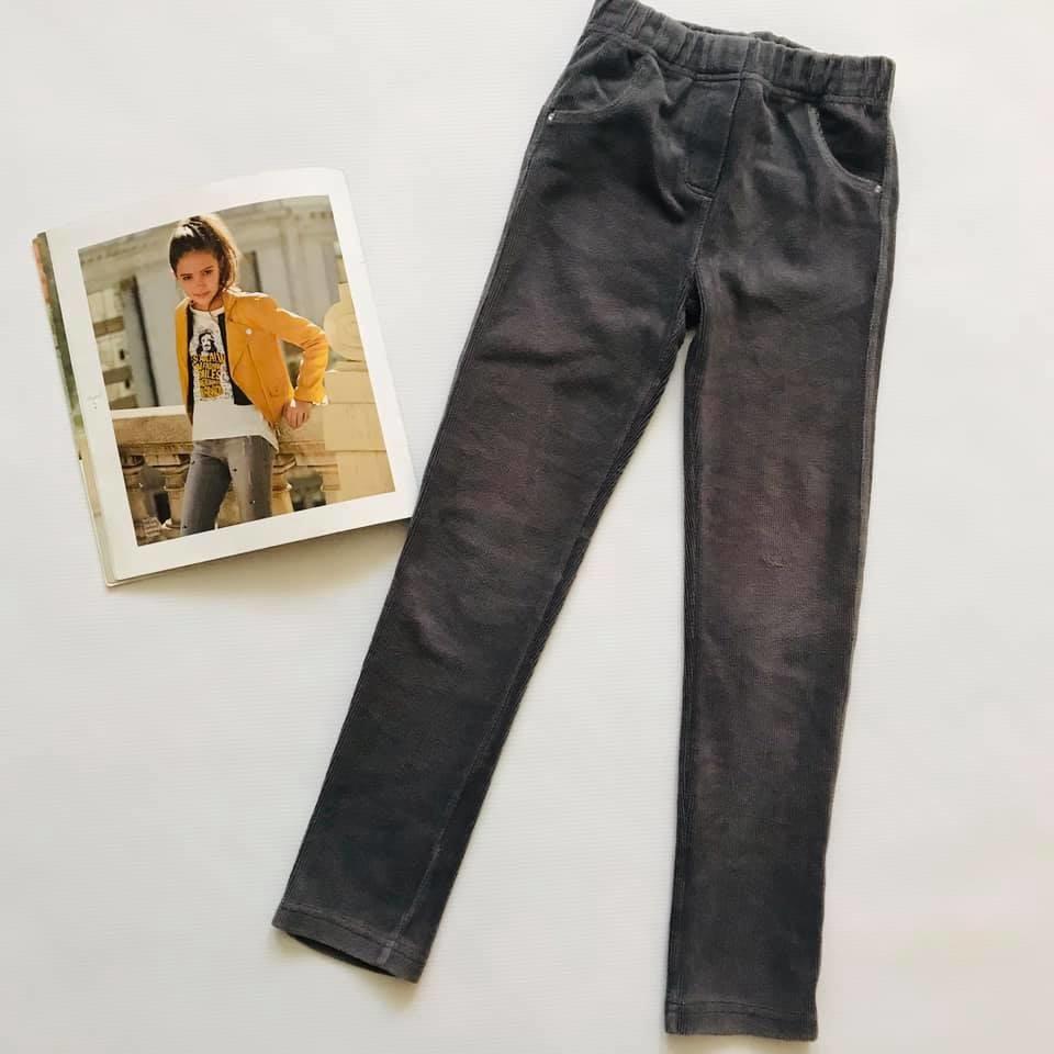 Скини o´stin вельветовые штаны лосины цвет графит р110-116 фото №1