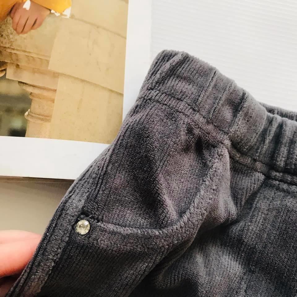 Скини o´stin вельветовые штаны лосины цвет графит р110-116 фото №3