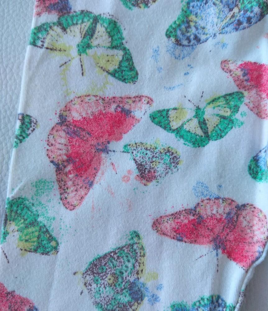 Леггинсы young dimension с бабочками р. 9-12 мес фото №2
