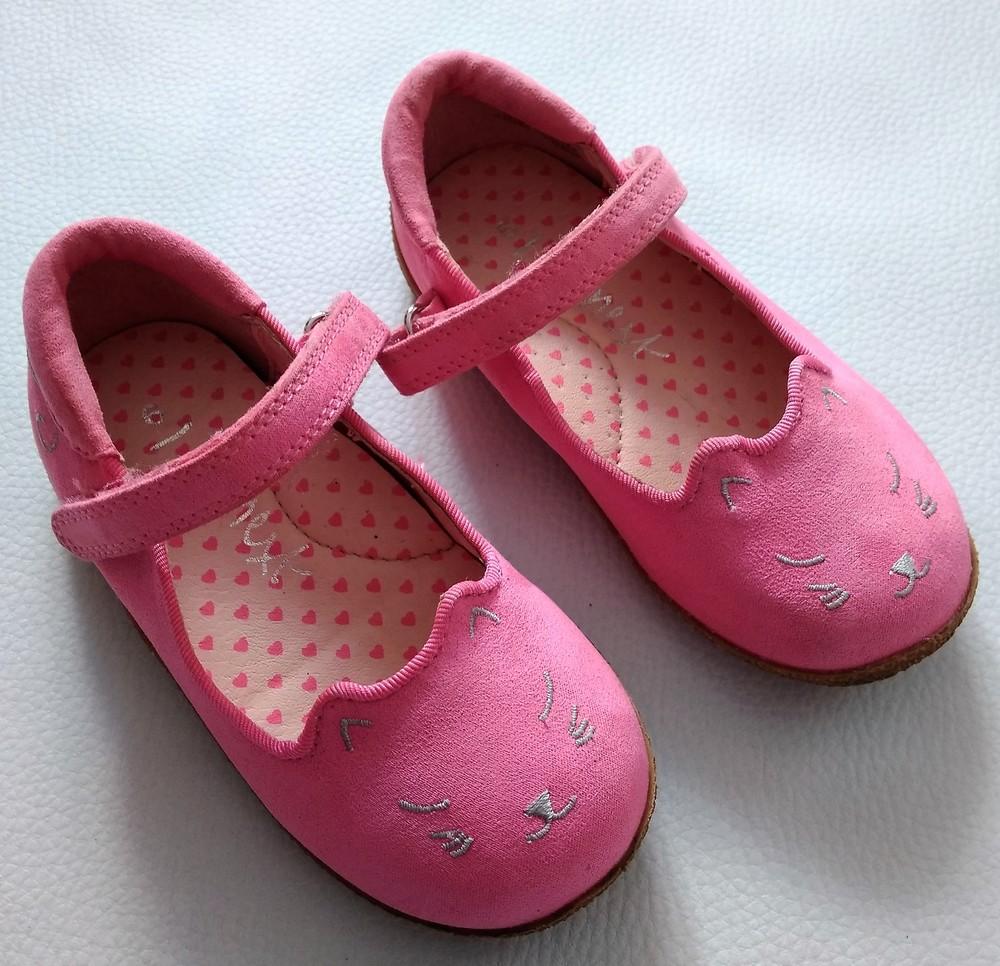 Розовые туфли - котики next р. 6 (23) фото №2