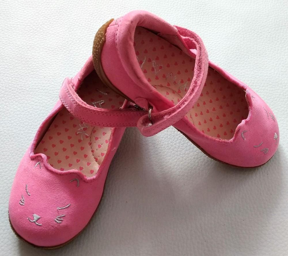 Розовые туфли - котики next р. 6 (23) фото №3