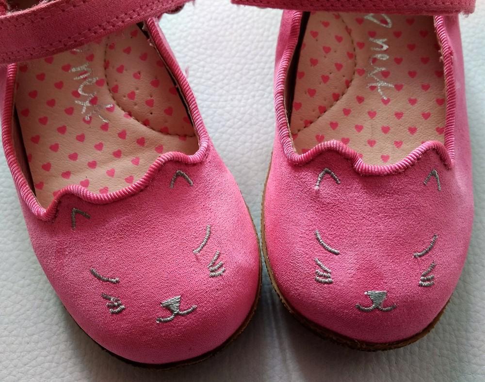 Розовые туфли - котики next р. 6 (23) фото №4