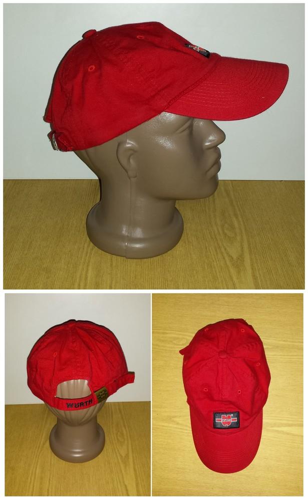 Одежда головной убор кепка бейсболка красная яркая обхват головы 57 см хлопок коттон фото №1