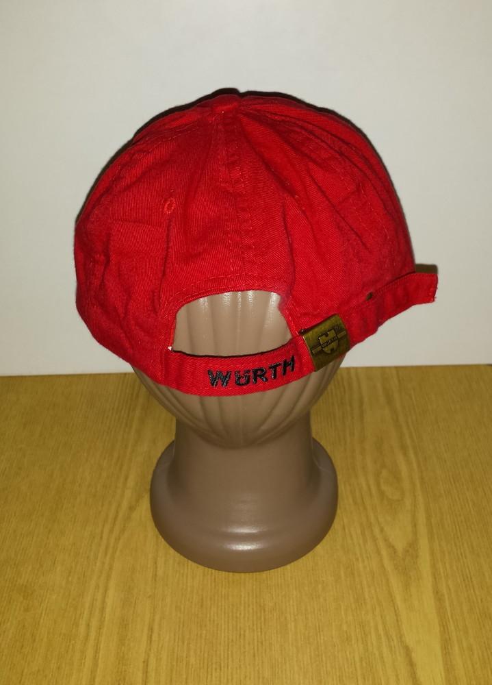 Одежда головной убор кепка бейсболка красная яркая обхват головы 57 см хлопок коттон фото №4