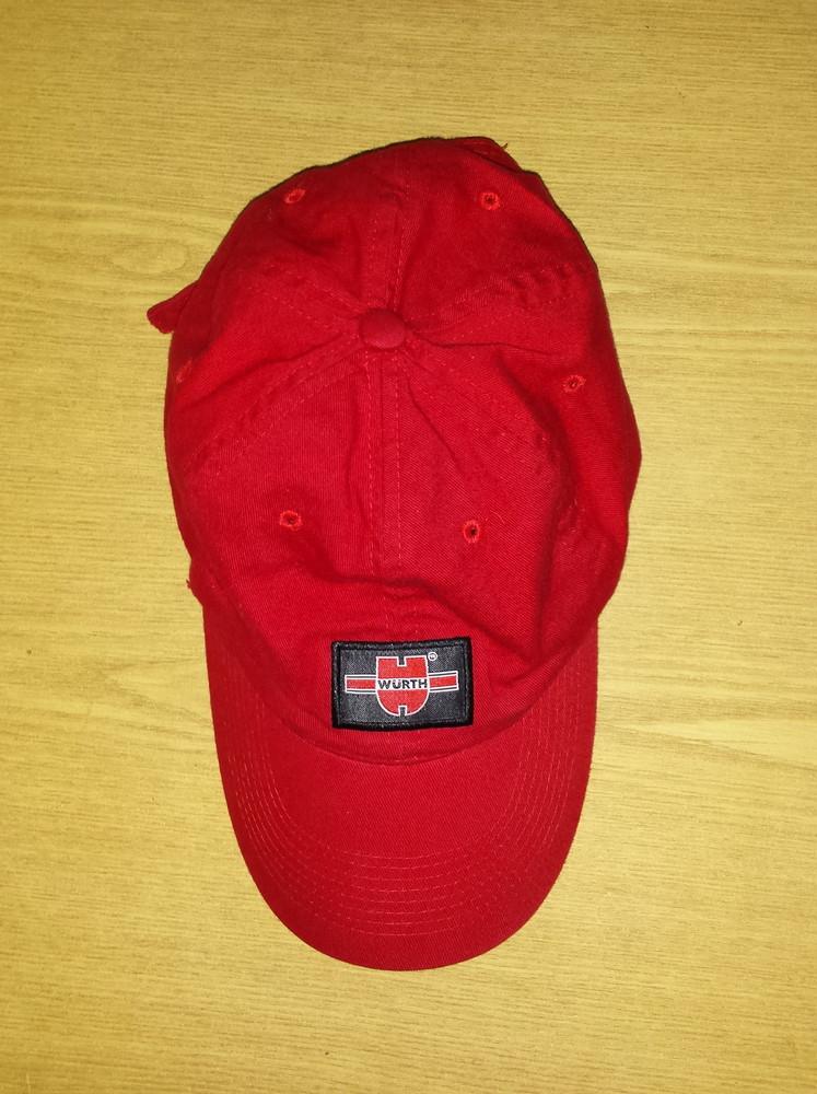 Одежда головной убор кепка бейсболка красная яркая обхват головы 57 см хлопок коттон фото №5