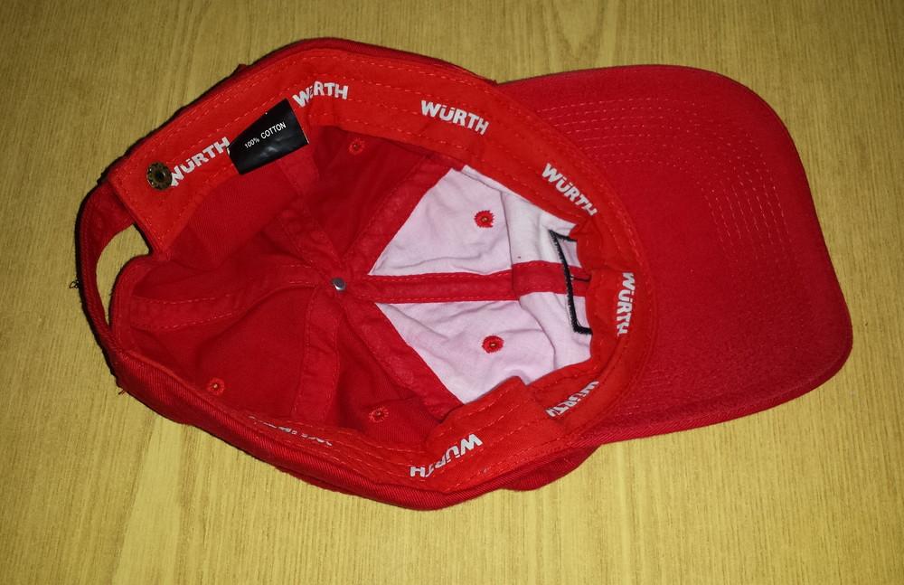 Одежда головной убор кепка бейсболка красная яркая обхват головы 57 см хлопок коттон фото №6