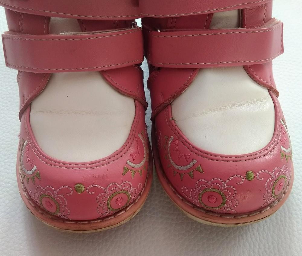 Кожаные розовые ботинки шалунишка ортопед р. 25 фото №7