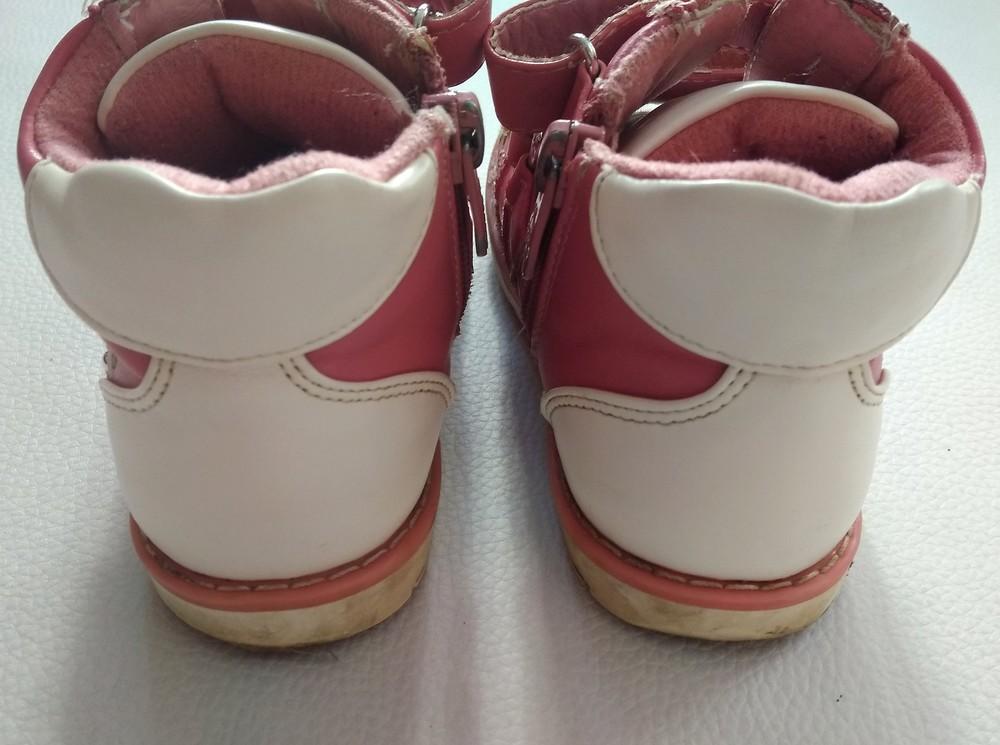 Кожаные розовые ботинки шалунишка ортопед р. 25 фото №8