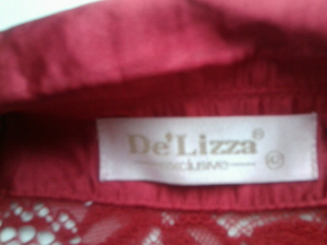 Неймовірно елегантна червона блуза фото №4