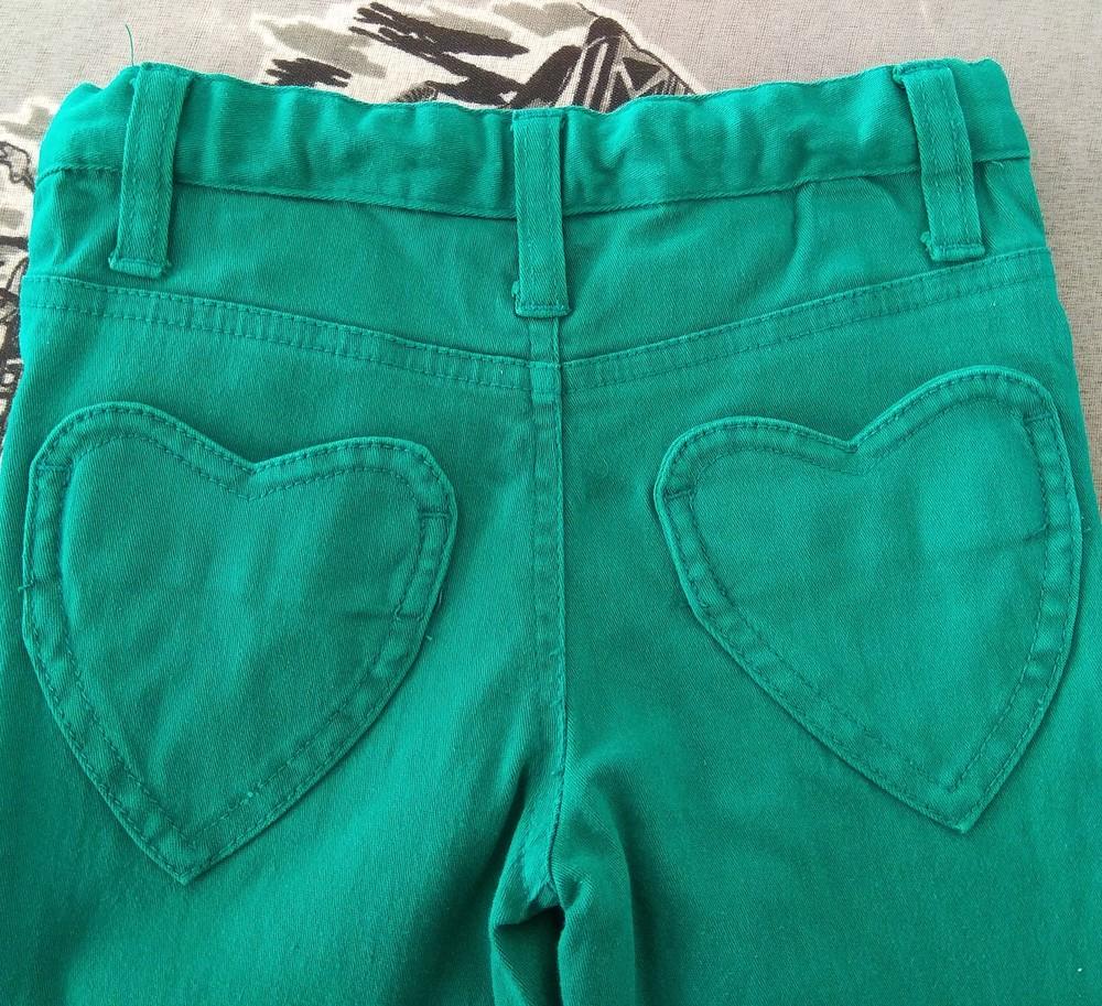 Зеленые штаны для девочки bluezoo р. 2-3 года фото №4
