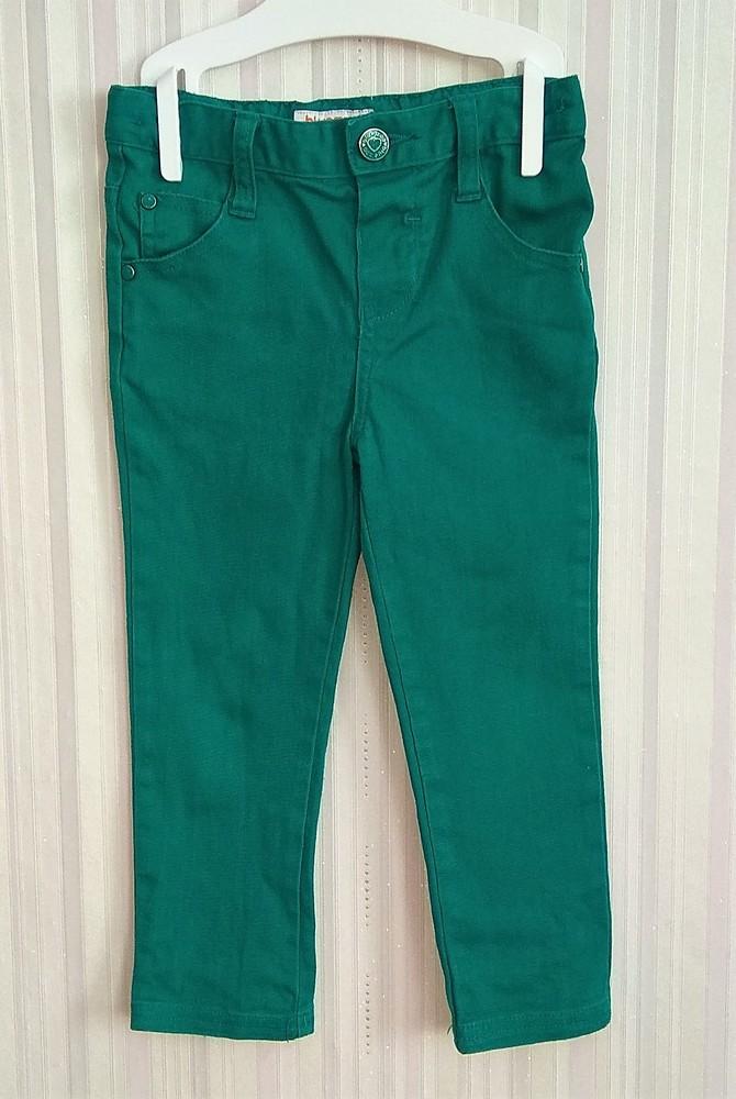 Зеленые штаны для девочки bluezoo р. 2-3 года фото №1