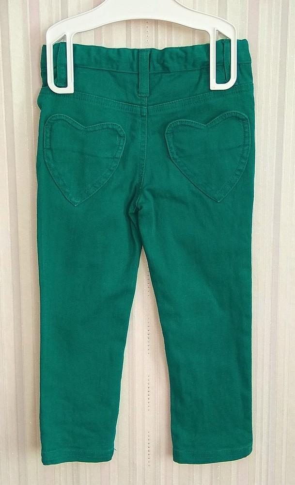 Зеленые штаны для девочки bluezoo р. 2-3 года фото №2