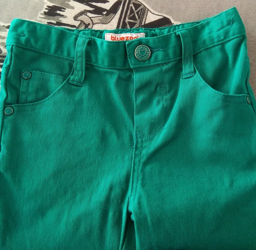 Зеленые штаны для девочки bluezoo р. 2-3 года фото №3