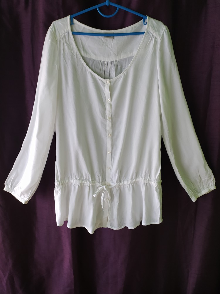 Esprit великолепная белая блуза туника, р.36, s-ка фото №3