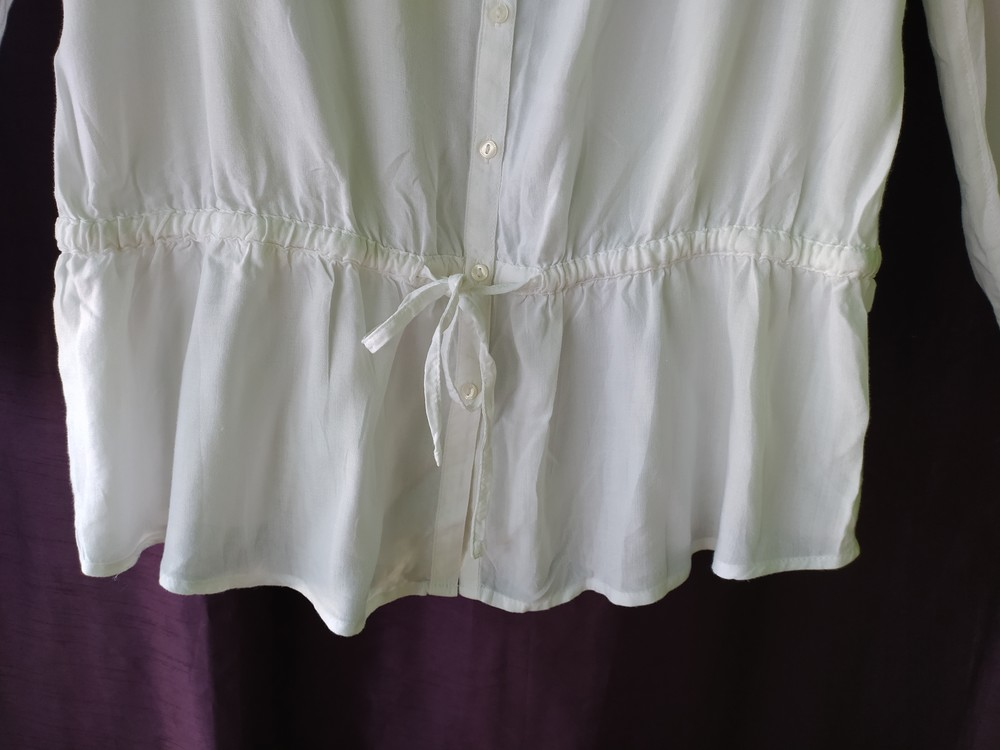 Esprit великолепная белая блуза туника, р.36, s-ка фото №4
