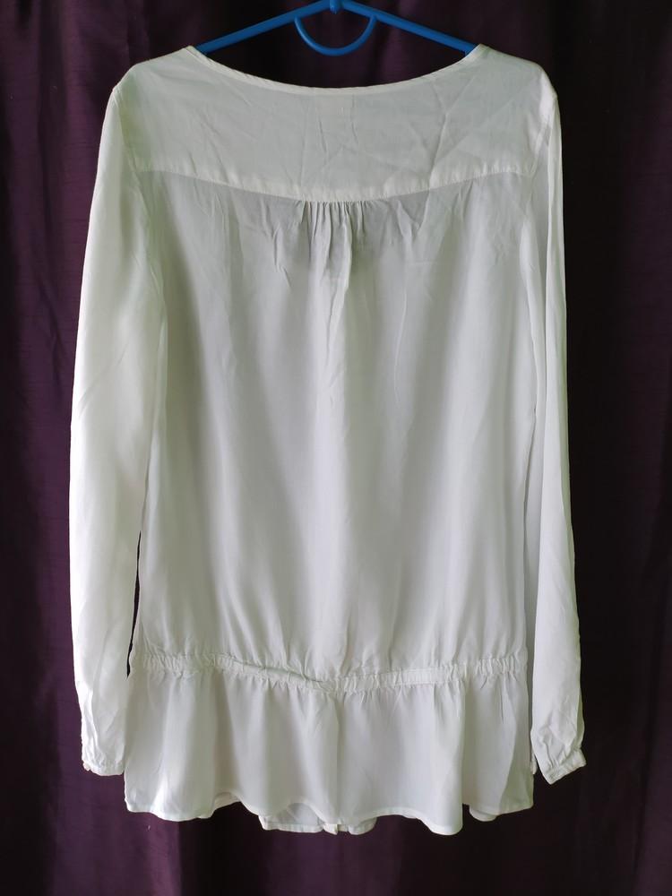 Esprit великолепная белая блуза туника, р.36, s-ка фото №6