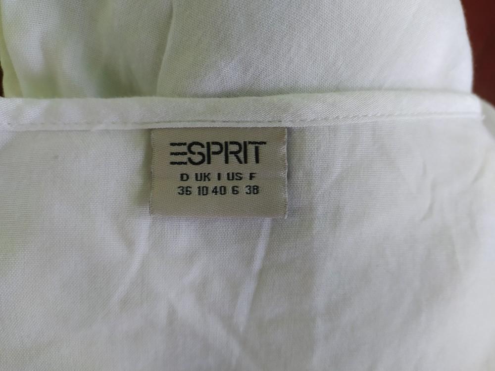 Esprit великолепная белая блуза туника, р.36, s-ка фото №7