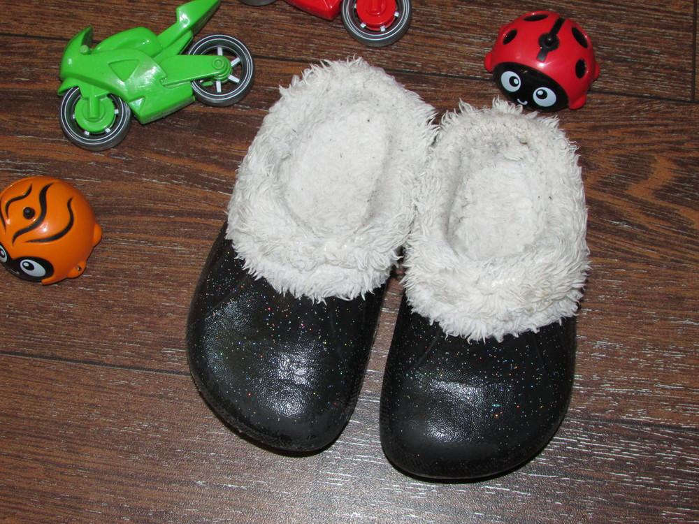 Детские теплые тапочки 23 р-ра с мехом для самых маленьких. чтобы не мерзли ножки. очень классные. фото №4