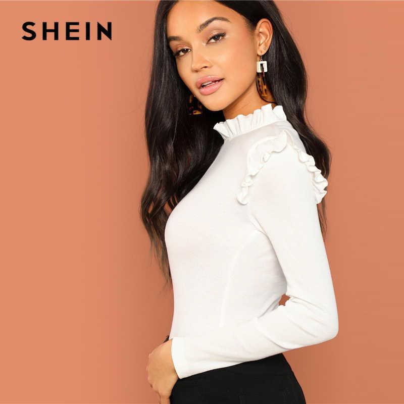 Shein трикотажный лонгслив реглан блуза с оборкой, s-m фото №2