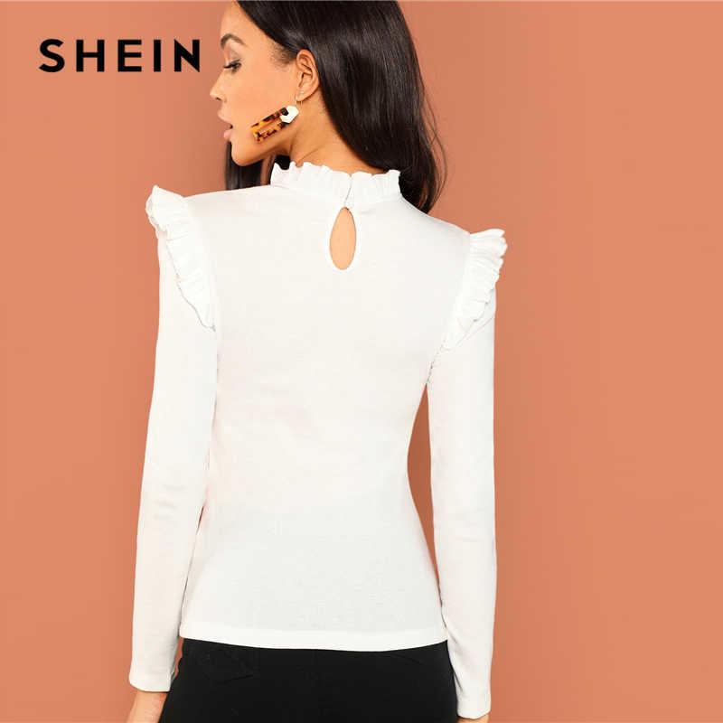 Shein трикотажный лонгслив реглан блуза с оборкой, s-m фото №4