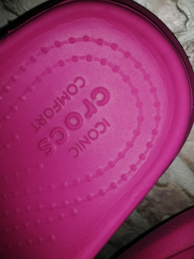 Шлепанцы crocs iconic comfort размер j1 фото №3