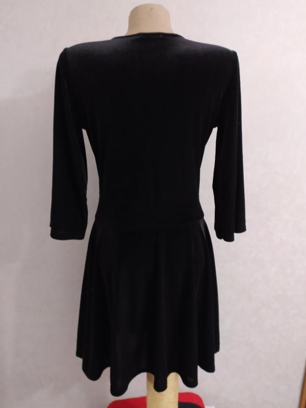 Boohoo бархатное велюровое платье с глубоким декольте, р.12-40 фото №8