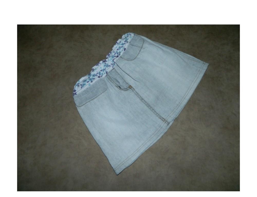 Юбка детская джинсовая серая на девочку 6-7 лет фото №1