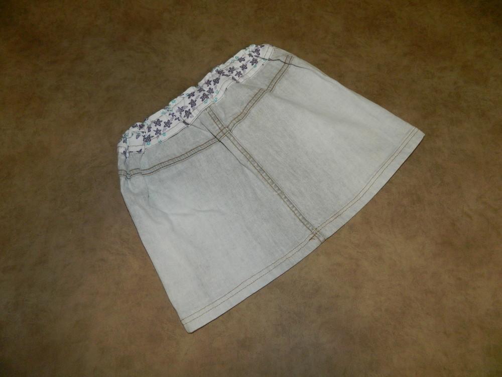 Юбка детская джинсовая серая на девочку 6-7 лет фото №2
