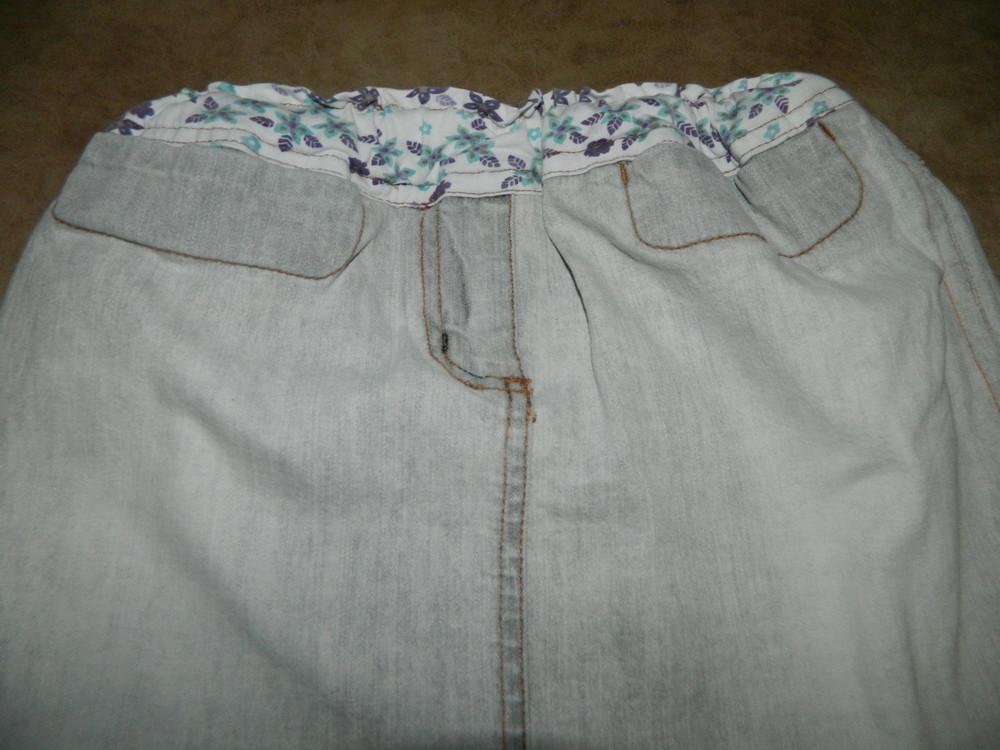 Юбка детская джинсовая серая на девочку 6-7 лет фото №3