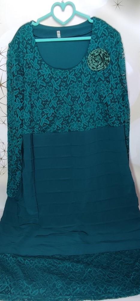 Нарядное платье большой размер фото №3