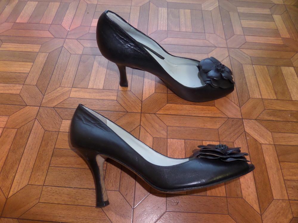 Фирменные туфли кожа р.37 стелька 24 см фото №5