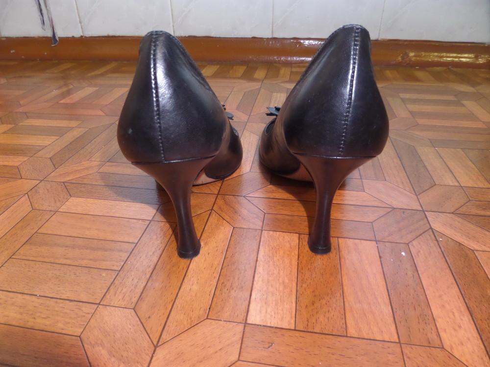 Фирменные туфли кожа р.37 стелька 24 см фото №8