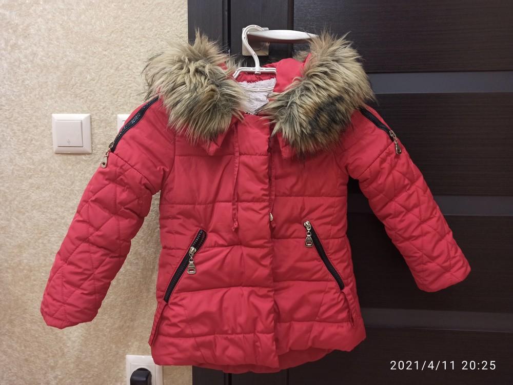 Зимова курточка для дівчинки,р.110 фото №1