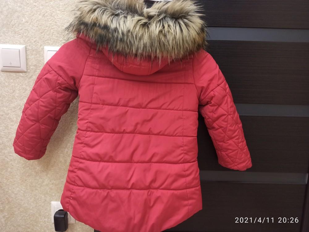 Зимова курточка для дівчинки,р.110 фото №2